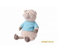 Свинка в тельняшке (голубой) (35 см) (THT715 Same Toy)