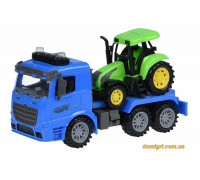 Машинка инерционная Truck Тягач (синий) с трактором со светом и звуком (98-613AUt-2 Same Toy)