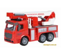Машинка инерционная Truck Пожарная машина с подъемным краном со светом и звуком (98-617AUt Same Toy)