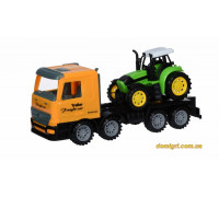 Машинка инерционная Super Combination Тягач желтый с трактором (98-84Ut-2 Same Toy)