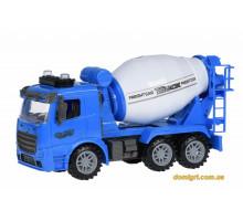 Машинка енерціонная Same Toy Truck Бетонозмішувач синя зі світлом і звуком 98-612AUt-1