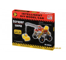 Конструктор металевий Same Toy Inteligent DIY Model Car Скрепер 124 ел. 58034Ut