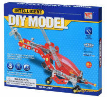 Конструктор металевий Same Toy Inteligent DIY Model Літак 207 ел. WC38CUt