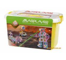 Конструктор Magplayer магнітний набір бокс 188 ел. MPT2-188