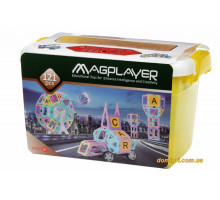 Конструктор Magplayer магнітний набір бокс 121 ел. MPT2-121