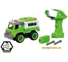 Полицейская машина LM8043-DZ-1, конструктор, 31 деталь, DIY Spatial Creativity