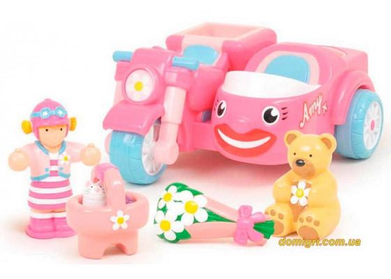 Мотоцикл Эми с коляской, Whiz-Around Amy, Wow Toys