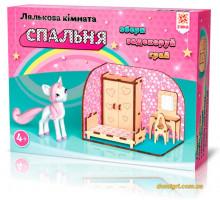 Спальня, комната с меблями, деревянный 3D конструктор, Зирка