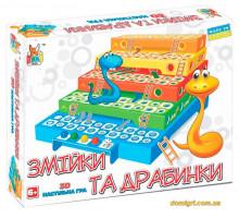 Настольная игра Змейки и лесенки, Boni Toys