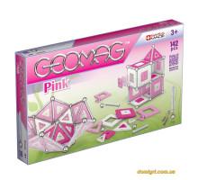 Geomag Panels розовый 142 детали | Магнитный конструктор Геомаг