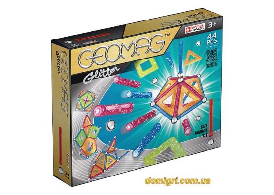 Geomag Color GLITTER 44 детали   Магнитный конструктор Геомаг