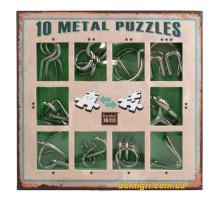 10 Metal Puzzle Green | Зеленый набор