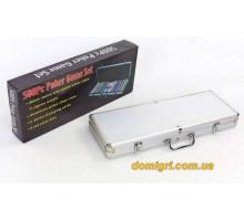 Покернийнабір500 фішокпо11,5 г (алюмінієвий кейс )