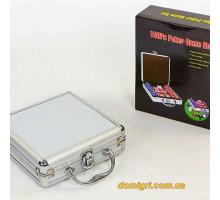 Покернийнабір100 фішокпо11,5 г(алюмінієвий кейс )