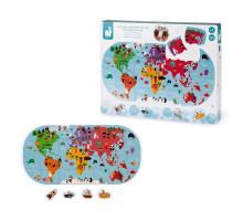 Игрушка для купания Janod Пазл Карта мира J04719