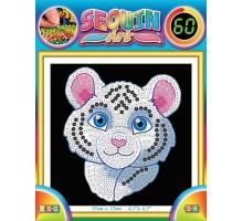 Набір для творчості Sequin Art 60 Білий тигр SA1326