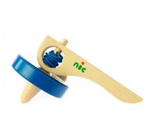 Игра nic  деревянная Юла синяя NIC1583