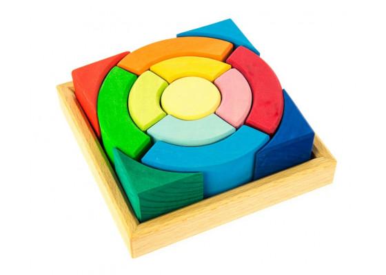 Конструктор nic деревянный Разноцветный круг NIC523344