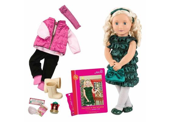 Кукла Our Generation DELUXE Одри-Энн с книгой  46 см BD31013ATZ