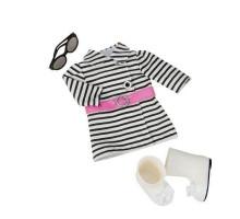 Набір одягу для ляльок Our Generation Смугасте пальто BD60012Z
