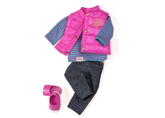 Набор одежды для кукол Our Generation Пушистый жилет BD30018Z