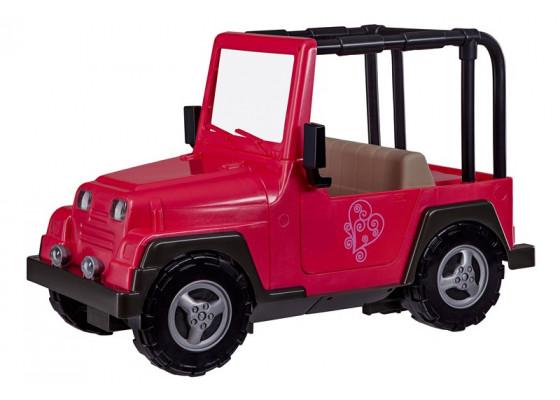 Транспорт для кукол Our Generation  Розовый джип с черной рамкой BD37277Z