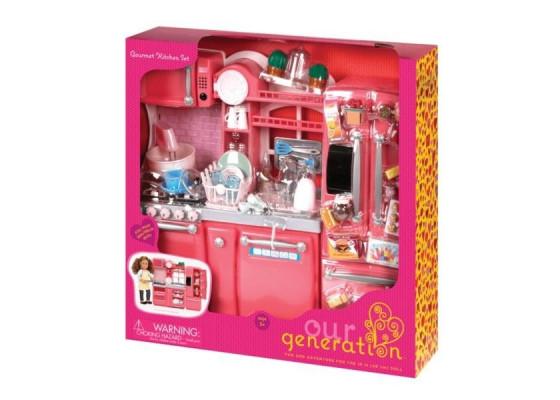 Набор мебели  Our Generation  Кухня для гурманов, 94 аксессуара розовая BD37365Z