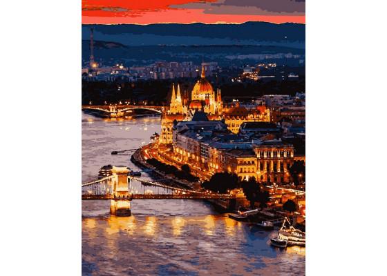 Картина по номерам Волшебный Будапешт 40*50 см