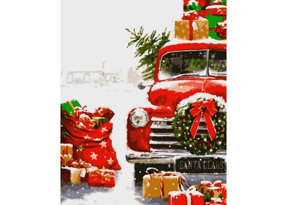 Картина по номерам Новогодние подарки 40*50 см