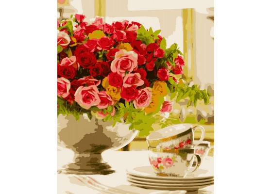 Картина по номерам Розовый настроение 50*60 см