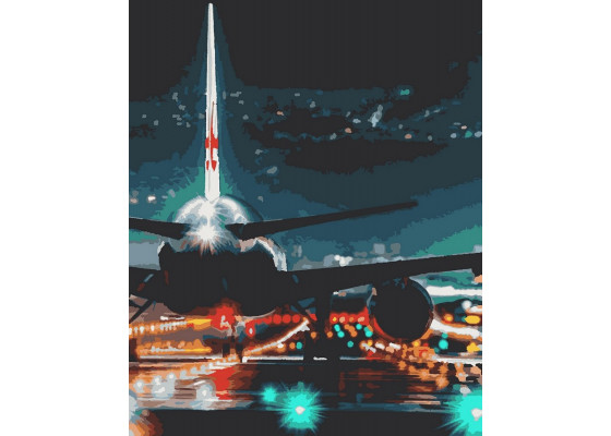 Картина по номерам Самолет 40*50 см