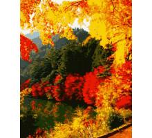 Картина по номерам Яркая осень 50*60 см